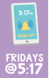 Fridays at 5-17 app web page image